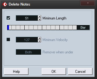 Delete the short double hits which were created when the overlaps were deleted.